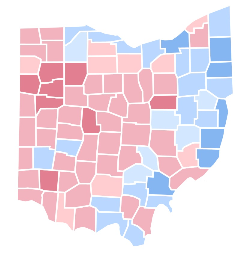 United States Presidential Election In Ohio Wikipedia - 1992 election us map