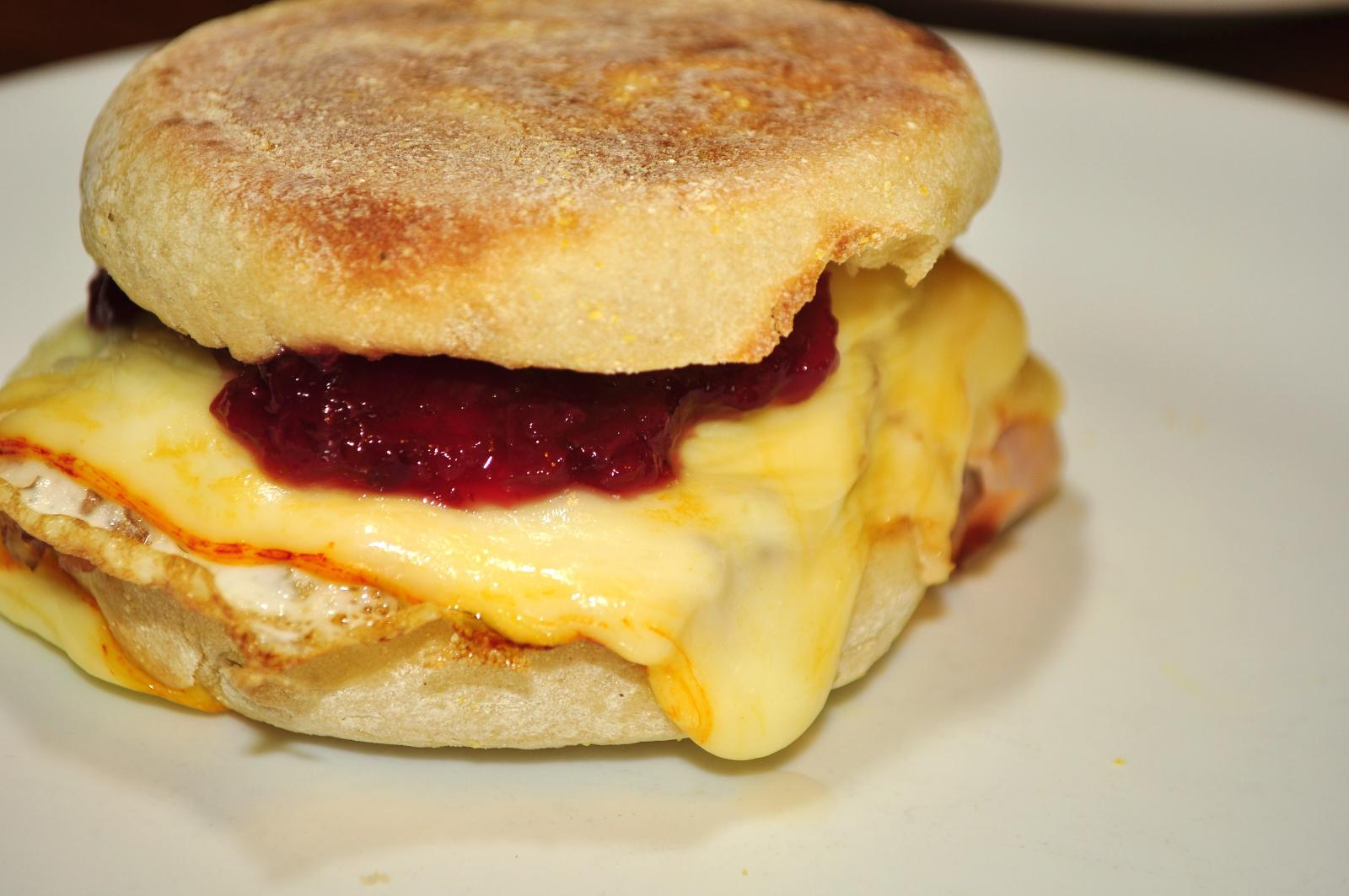 fileok you want a ham egg and cheese muffin with