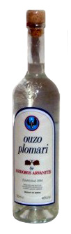 A bottle of ouzo