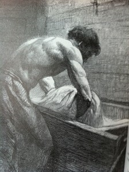 Pétrin Gravure de Victor