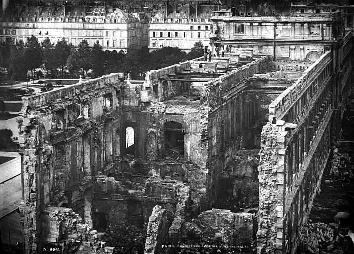 Palais des Tuileries - Ruines - Paris - Médiathèque de l'architecture et du patrimoine - APMH00006641