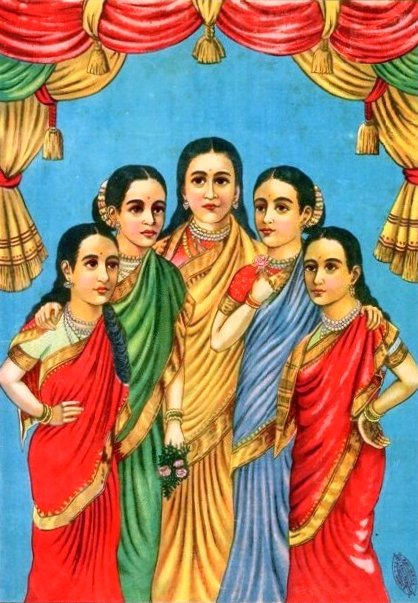 The wives of Ravana...