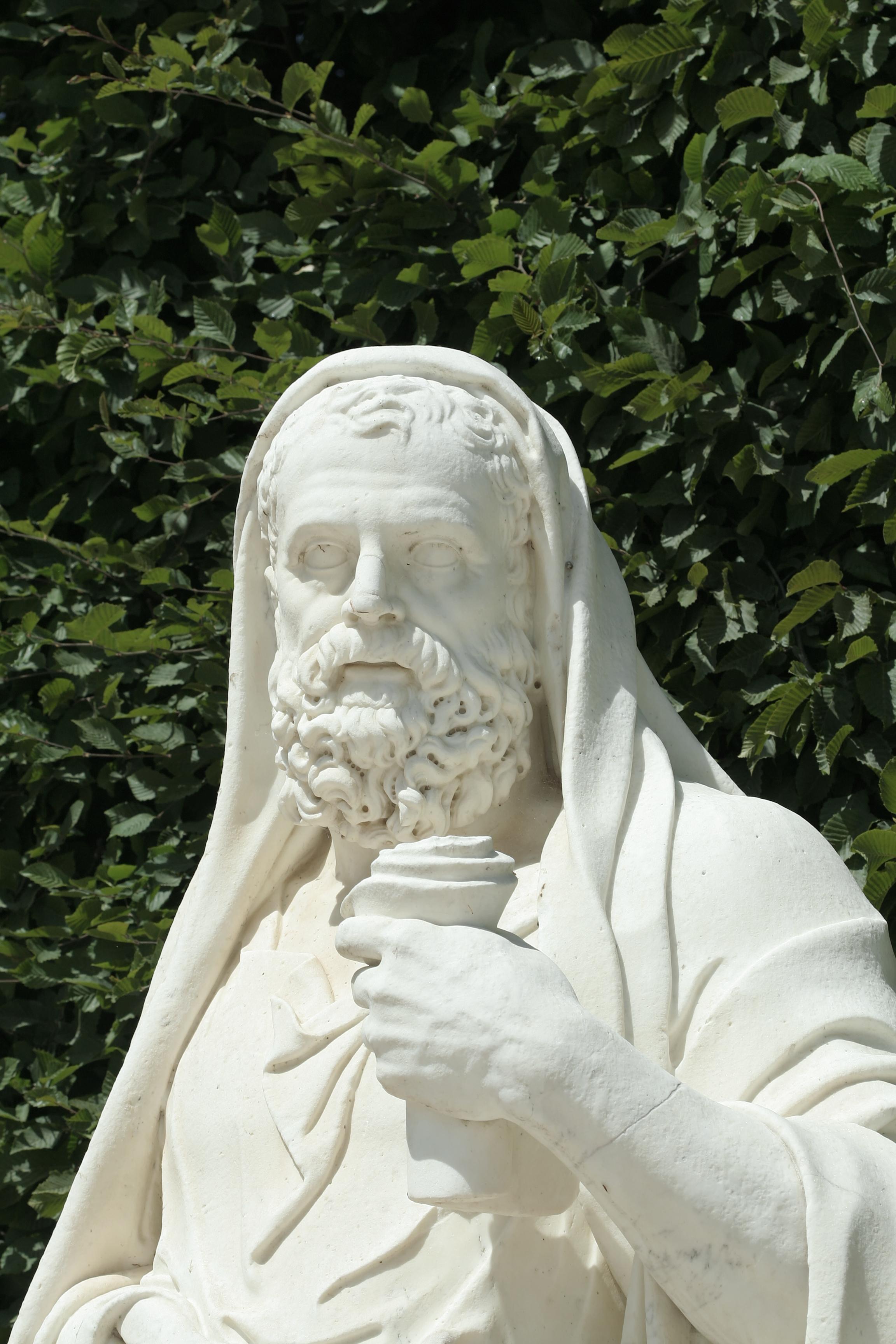 '''Jean Dedieu (1646 - 1727): estatua de Lisias. [[Jardines de Versalles