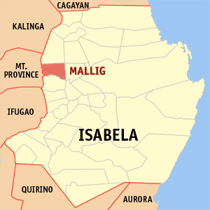 Mapa na Isabela ya nanengneng so location na Mallig