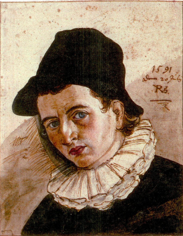 Self-portrait of Philipp Uffenbach, 1591.