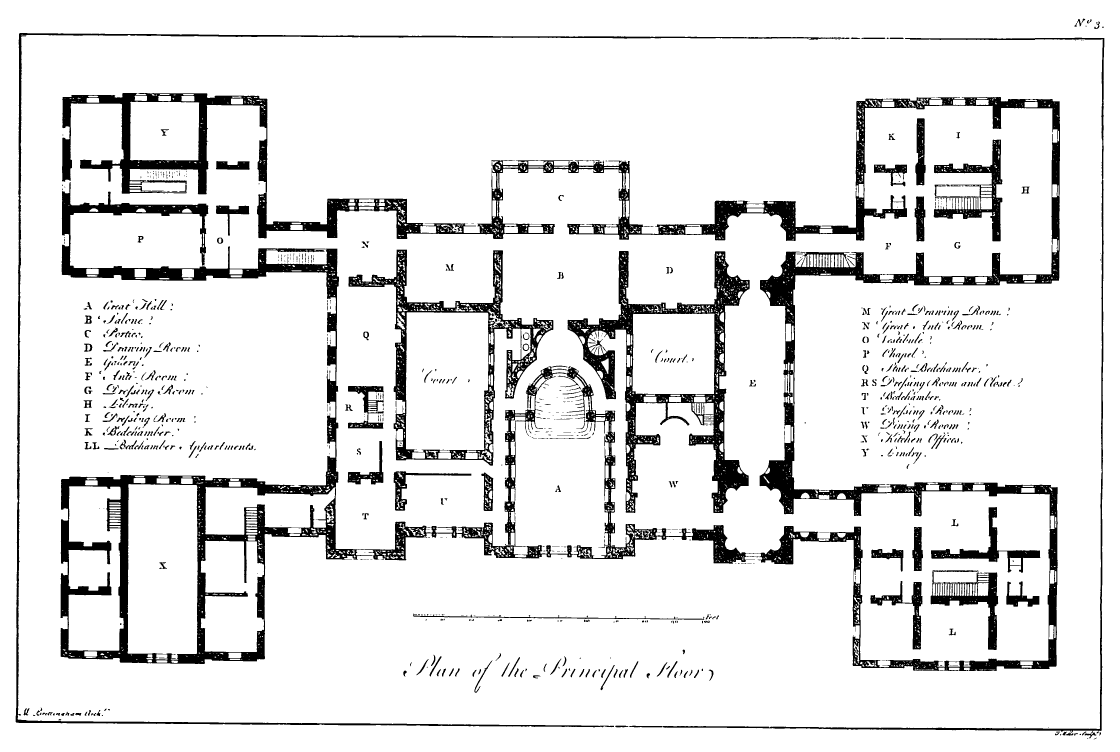 File plan of holkham wikimedia commons for Palatial home designs