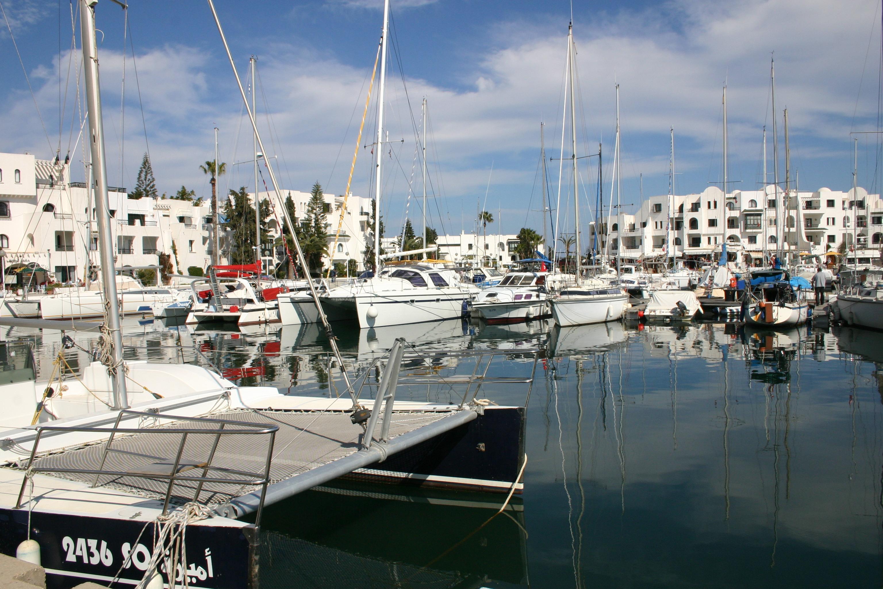 Port El Kantaoui Tunisia  city photo : Port El Kantaoui Marina, Sousse Wikimedia Commons