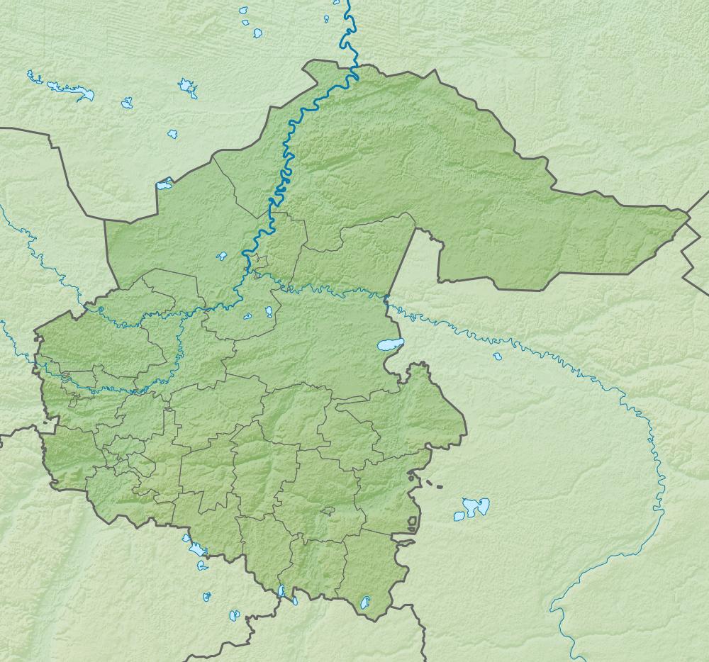 Где находится тюменская область на карте россии