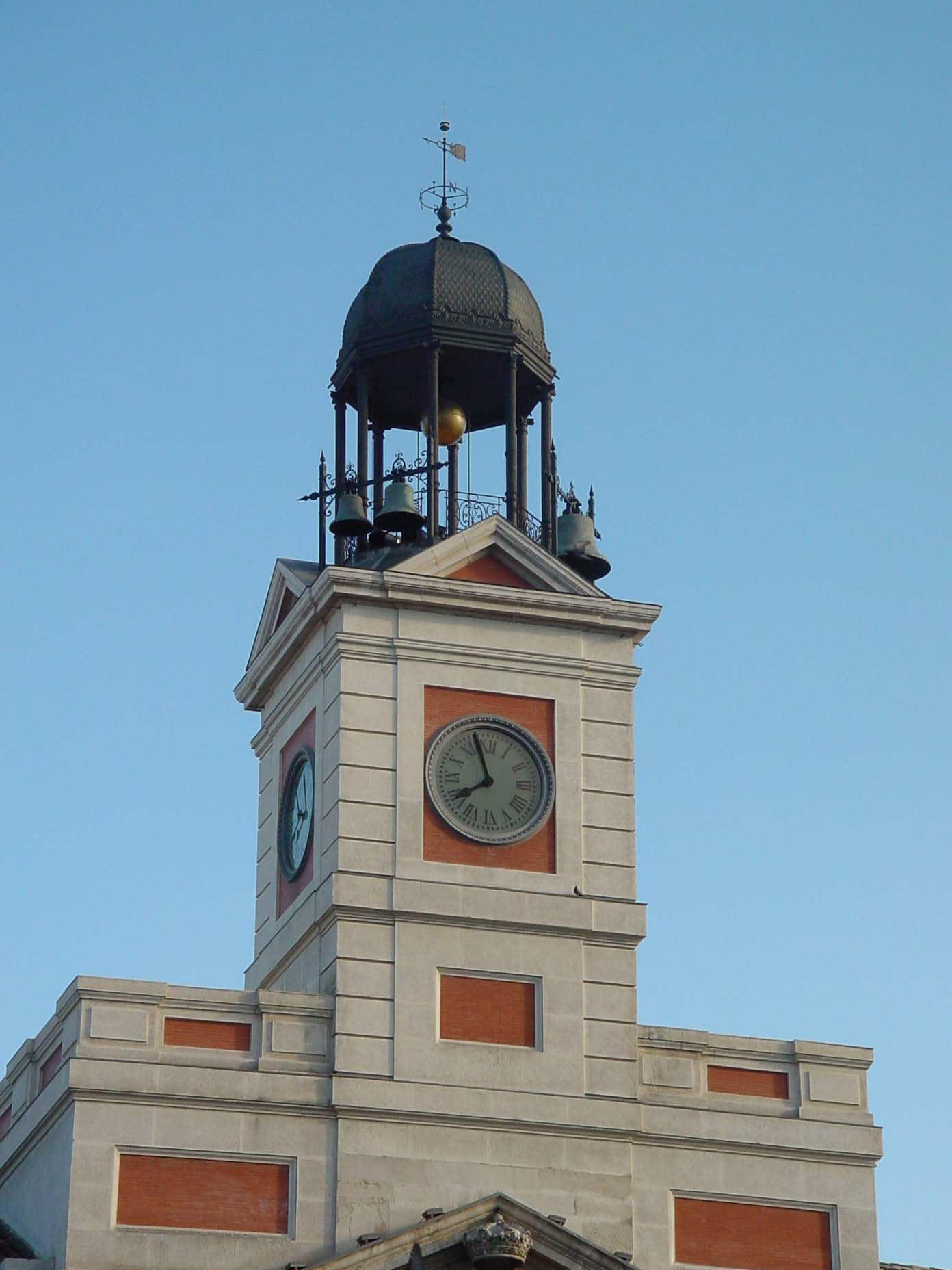 File reloj de la fachada de la casa de correos de madrid Casa del correo