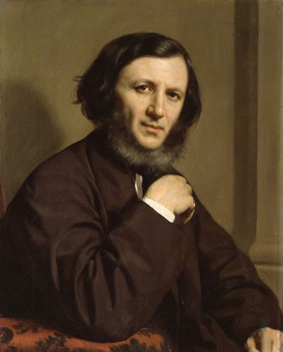 Robert Browning by Michele Gordigiani 1858
