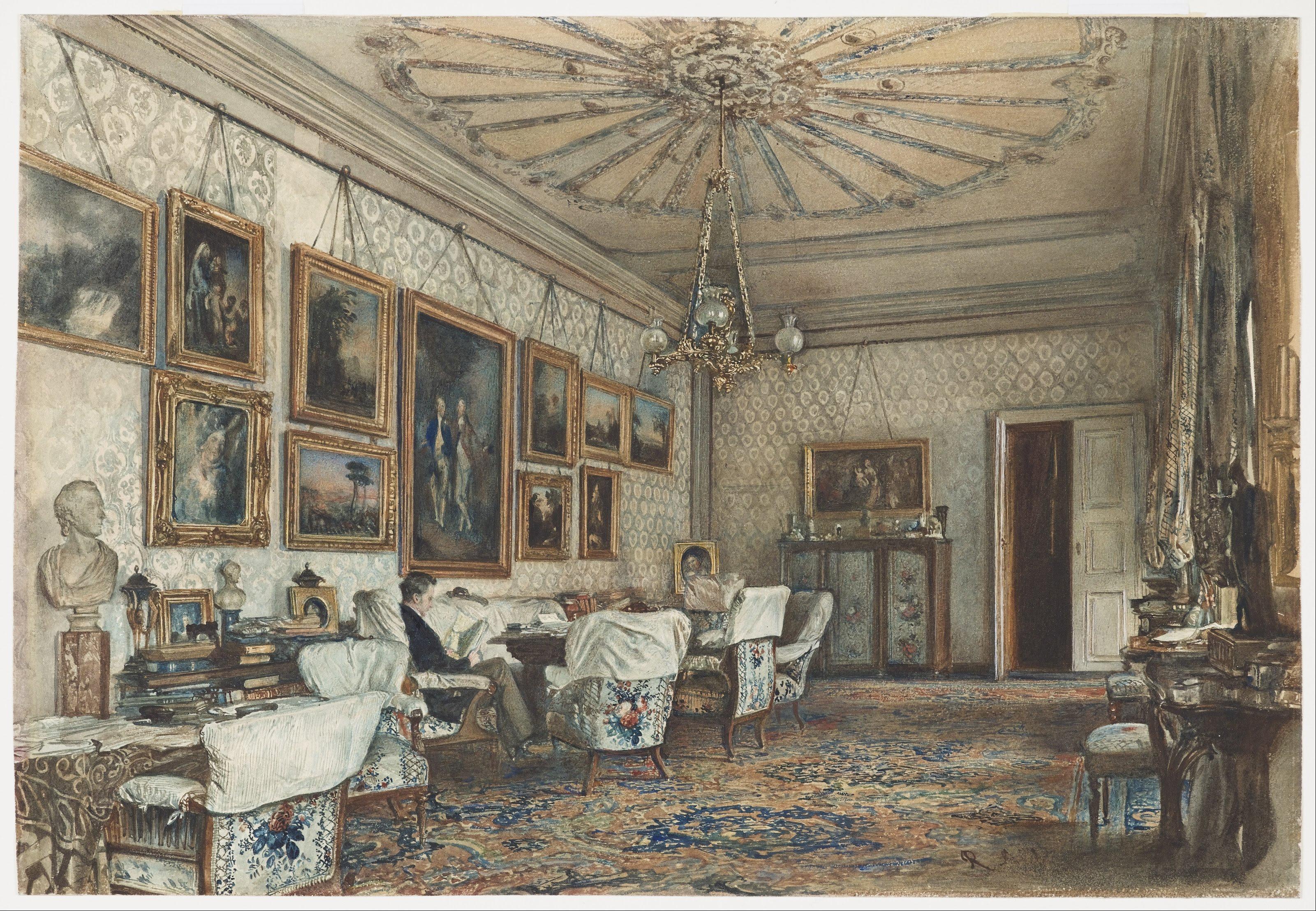 File:Rudolf von Alt - Salon in the Apartment of Count ...