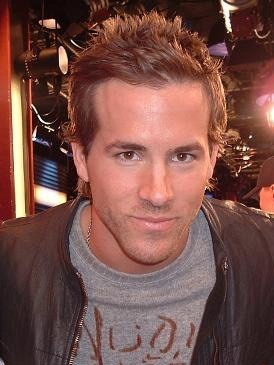 Ryan Reynolds on set