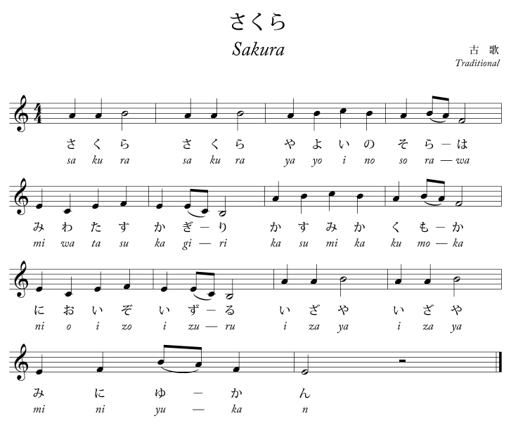 Do Re Mi Lyrics Sheet Music: File:Sakura.song.png