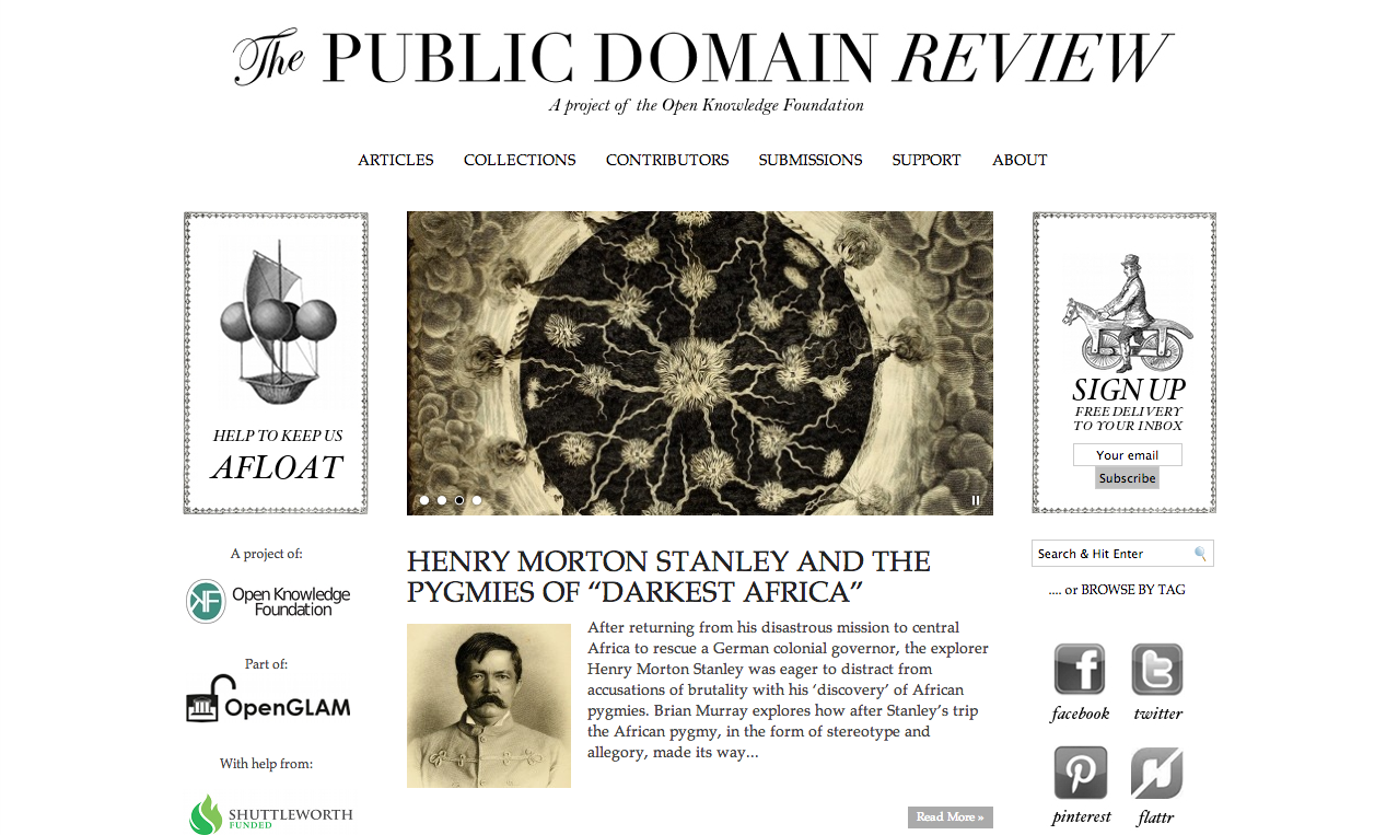 Filescreen Shot Of The Public Domain Review Png