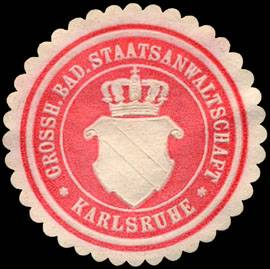 File:Siegelmarke Grossherzoglich Badische Staatsanwaltschaft - Karlsruhe W0226683.jpg