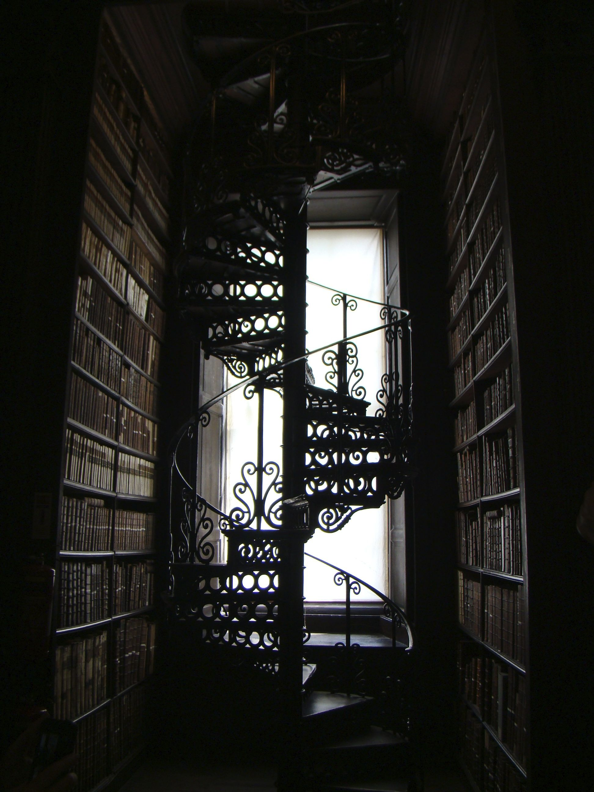 File:Staircase In Trinity College Library