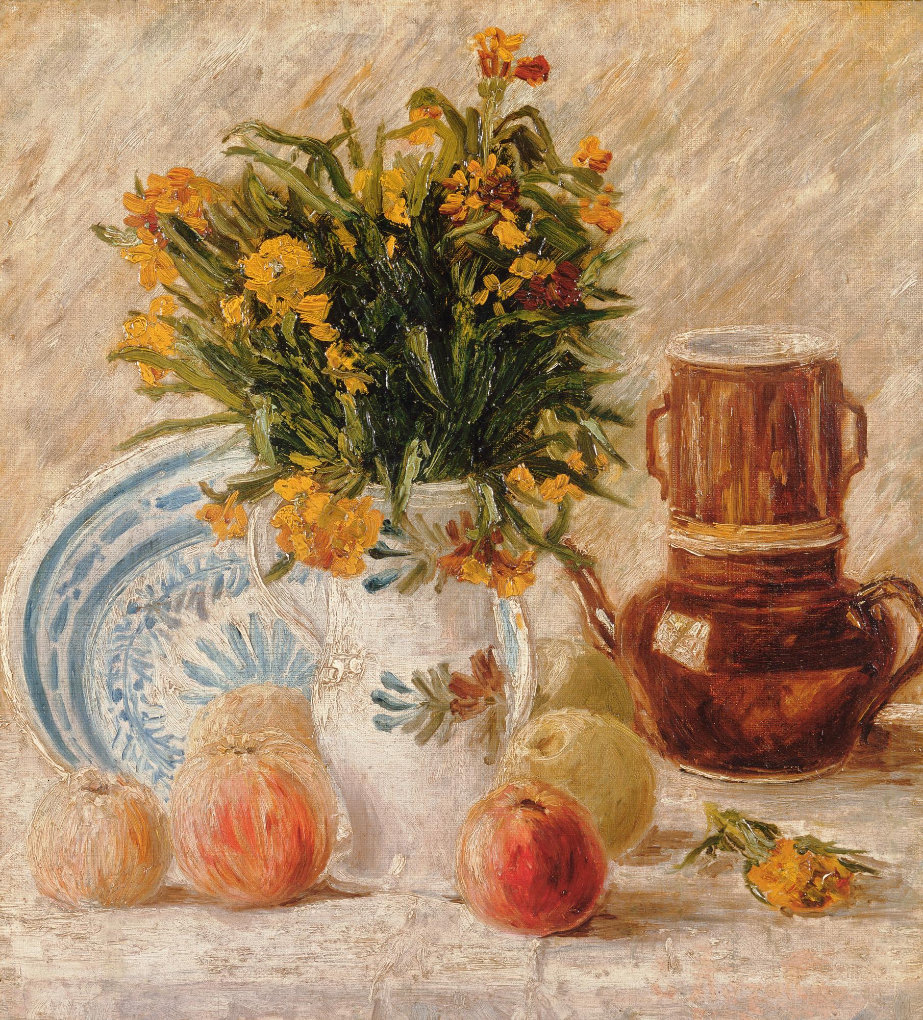 Stillleben Mit Kaffeetopf Und Blumen Wikipedia