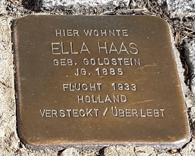 Stolperstein von Ella Haas