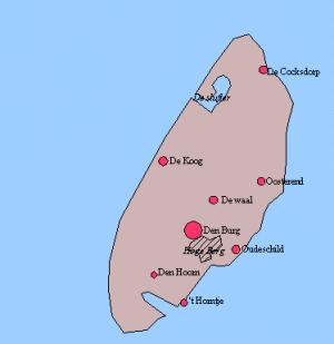 Karte Texel.Texel Reiseführer Auf Wikivoyage