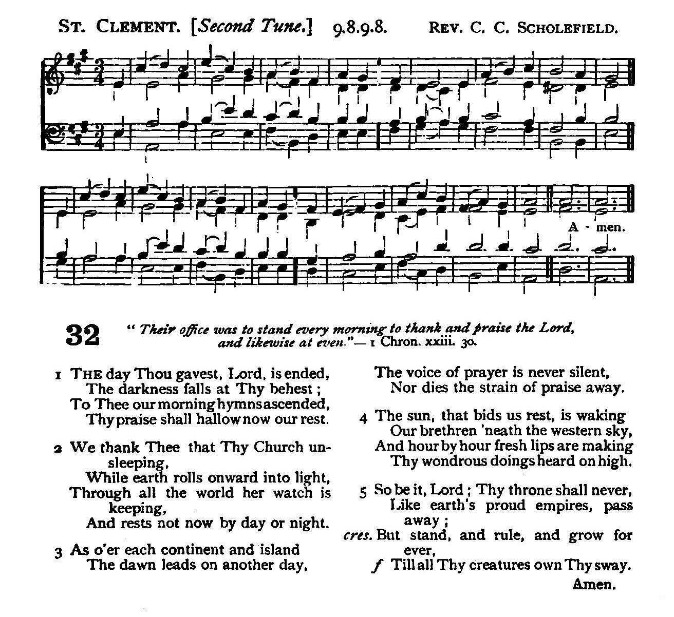St Clement (hymn tune) - Wikipedia