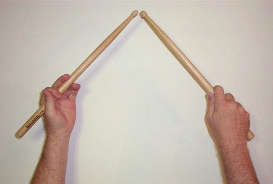 Traditional or Orthodox Drum Sticks Grip