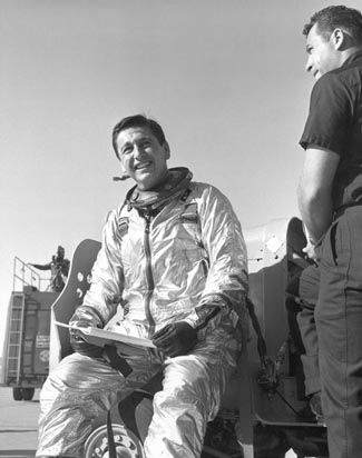 X-15 pilot Scott Crossfield, USAF photo (date unknown)Source: Wikipedia USAF_x15-29_072.jpg