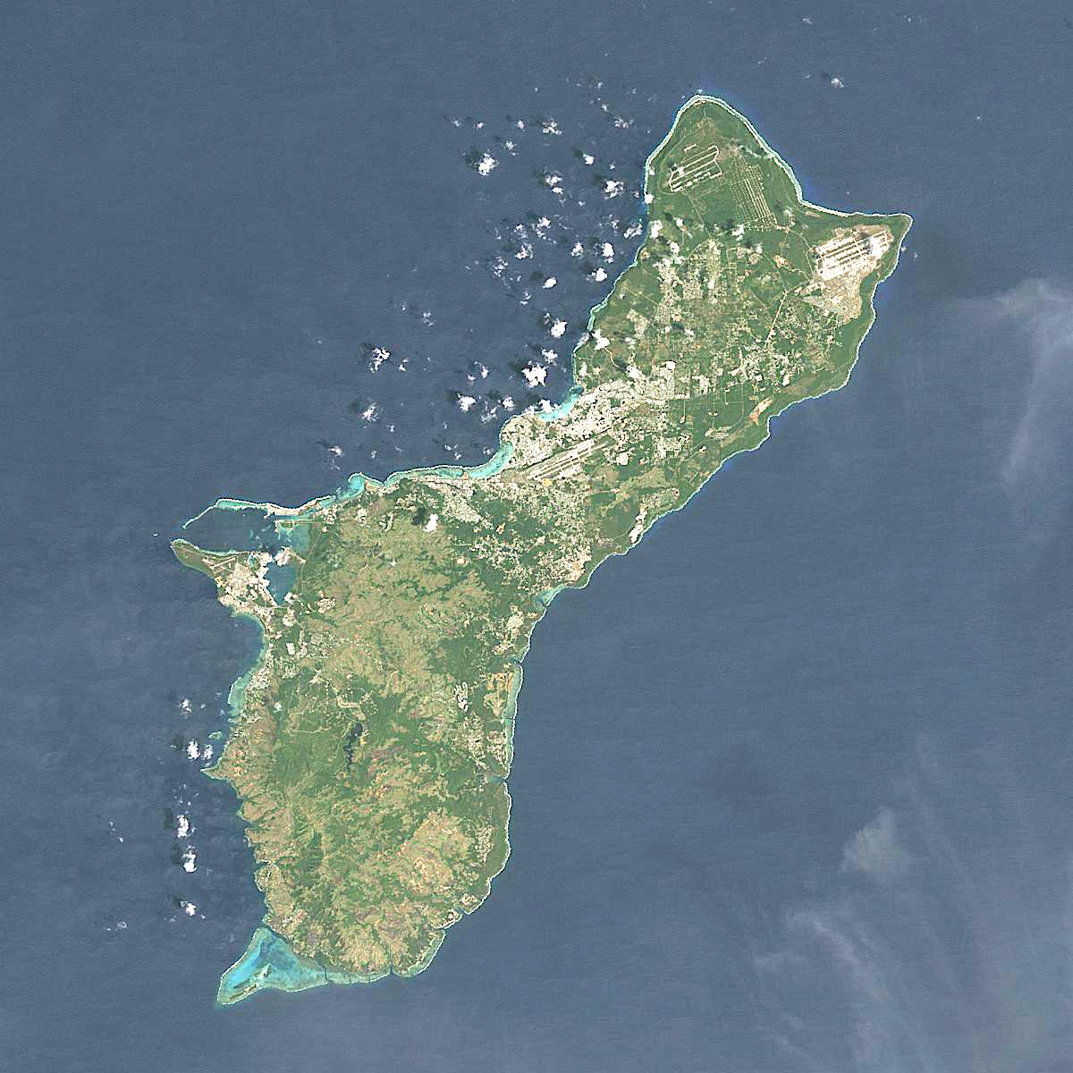Guam Map Satellite