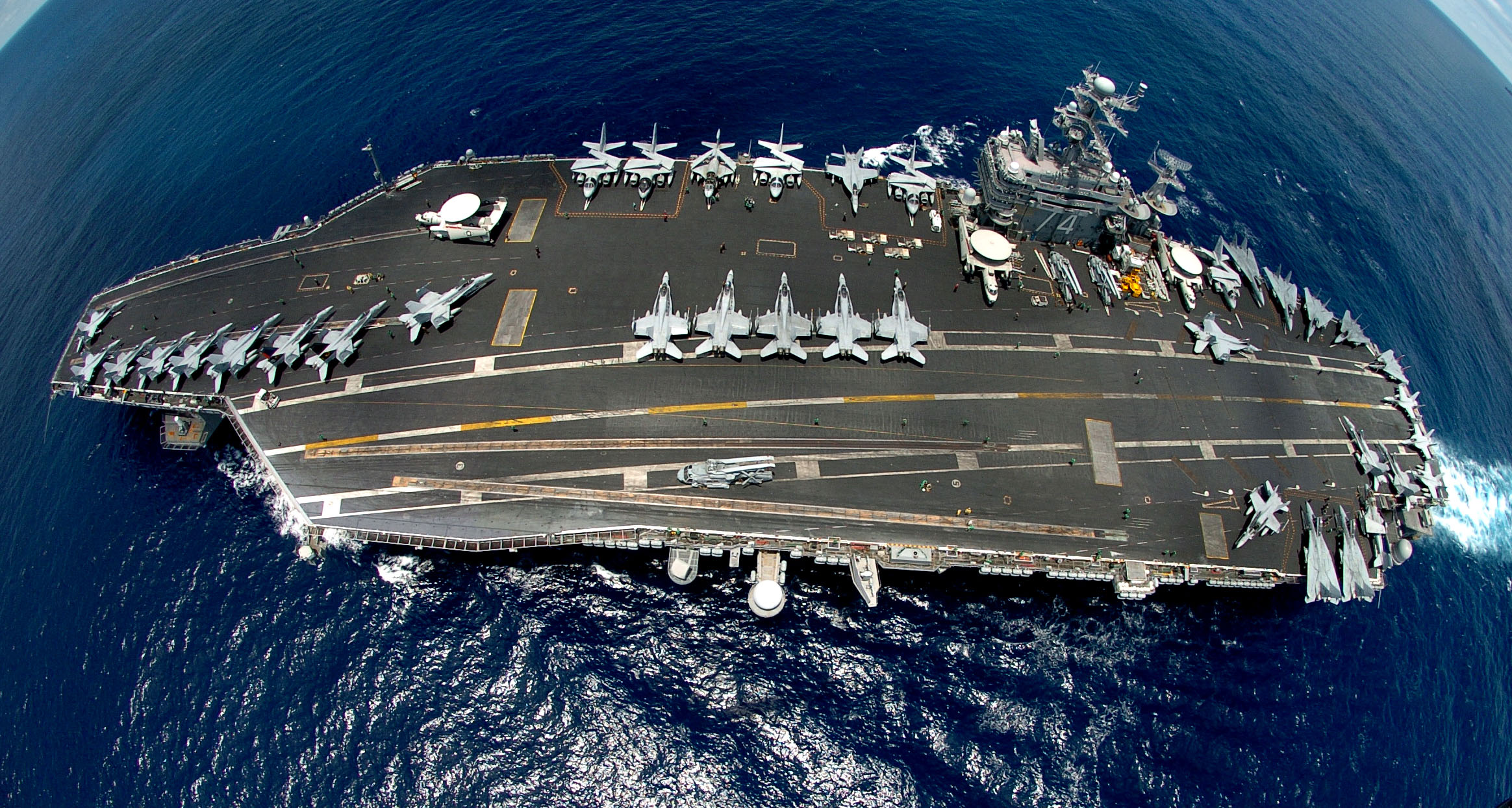 The U S Navy Nimitz Cl Aircraft Carriers Top To Bottom Uss Ronald Reagan And Theodore Roosevelt Steam In Formation November 12