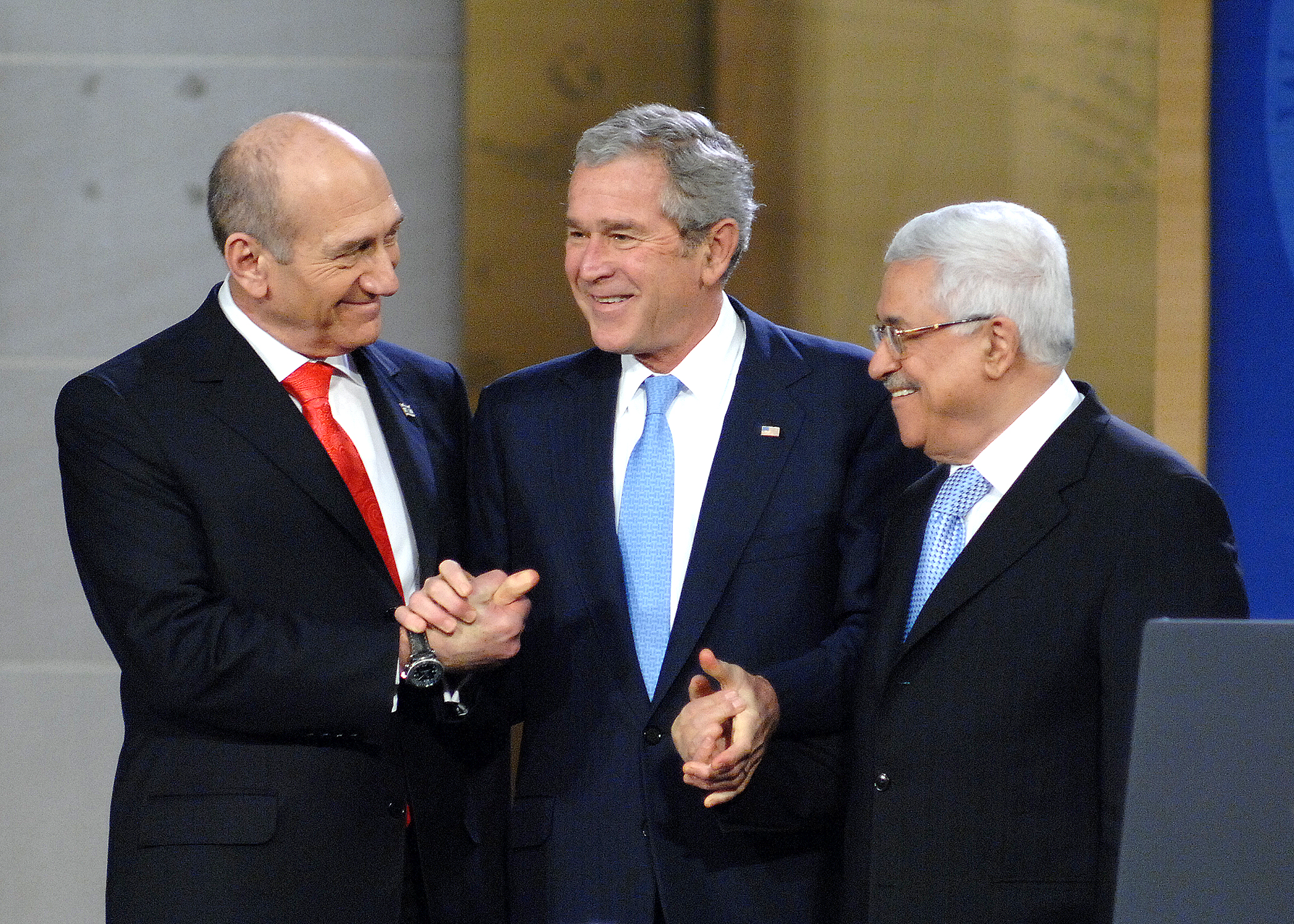 Image result for abbas with george bush