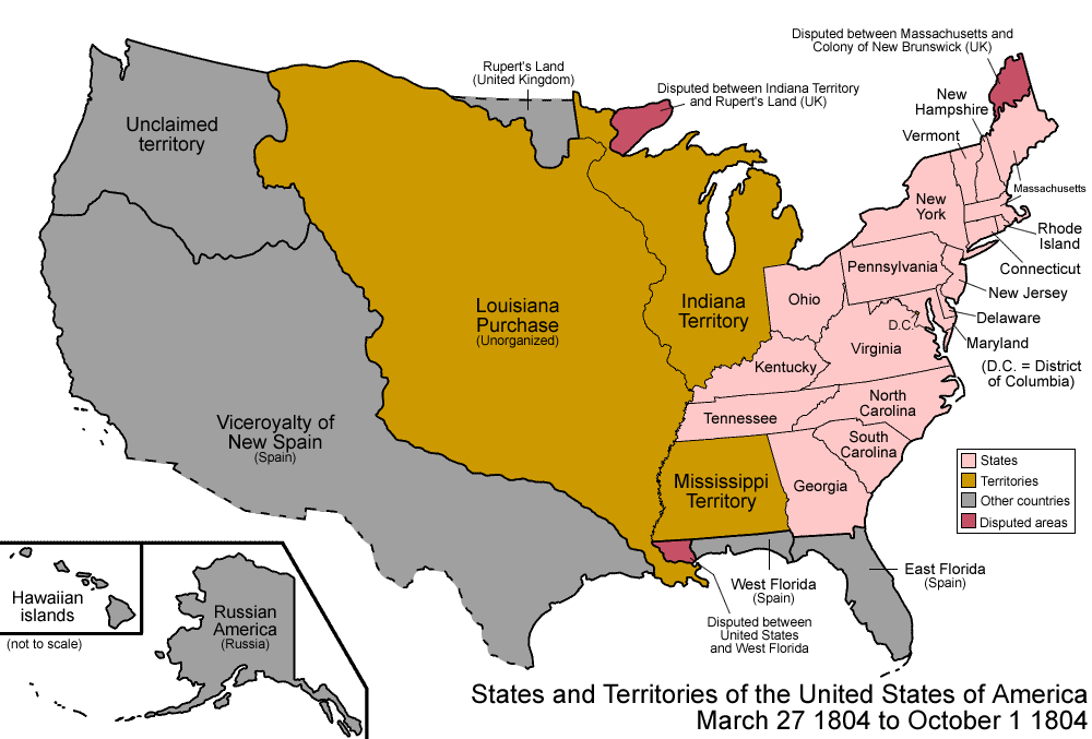 Fileunited States 1804 03 1804 10png Wikimedia Commons - Us-map-1800s