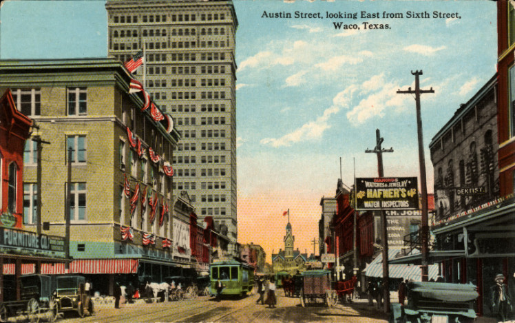 Description Waco TX - Austin Street from 6th Street - Alico Building ...