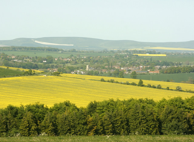 West Lavington from White Horse Trail - geograph.org.uk - 1316345