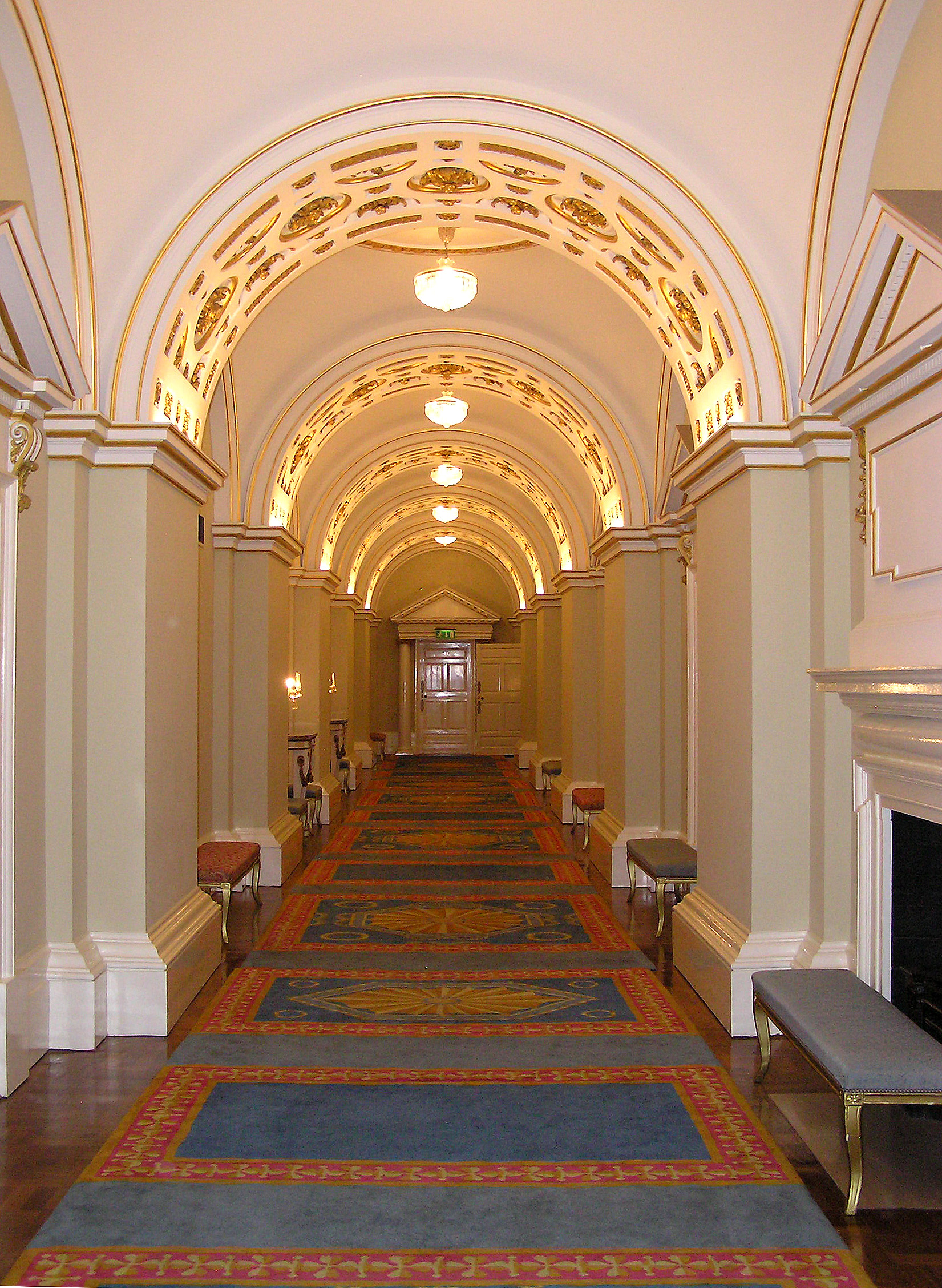 File ireland dublin castle interior state corridor jpg for House interior design event dublin