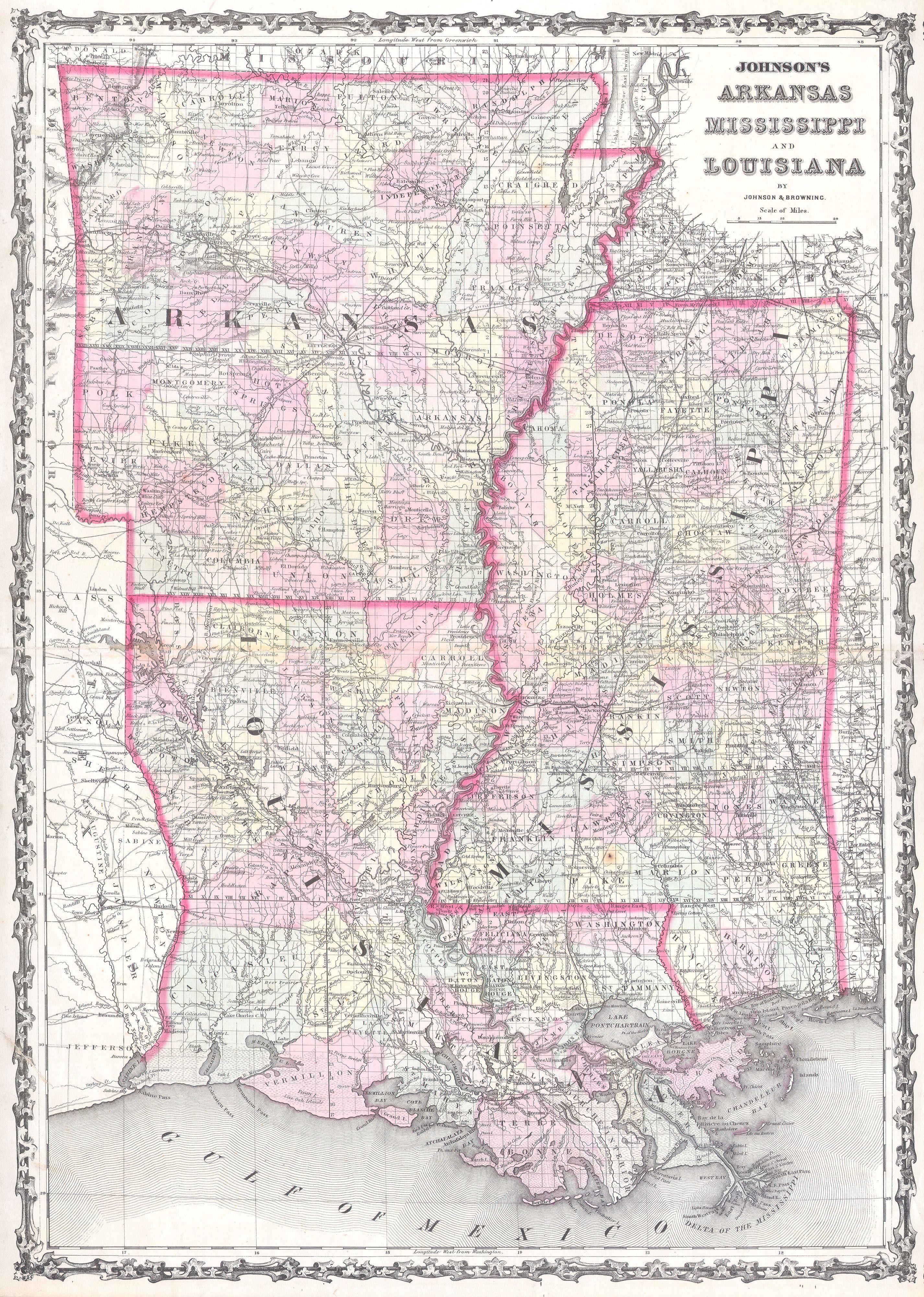 File 1861 Johnson Map Of Mississippi Louisiana Arkansas