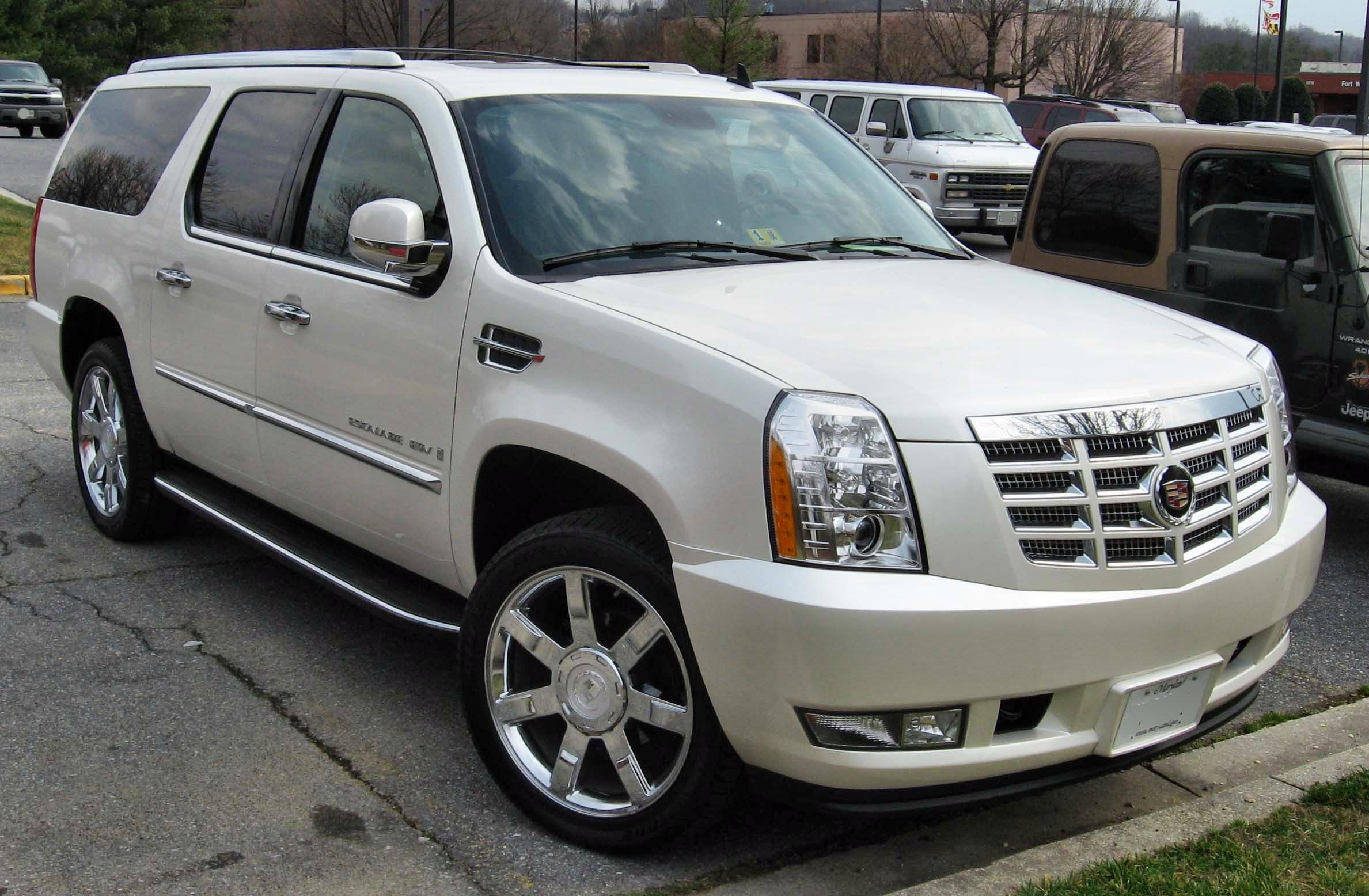 2012 Cadillac Escalade Platinum For Sale >> File:2007-Cadillac-Escalade-ESV.jpg - Wikimedia Commons