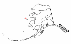 Location of Savoonga, Alaska