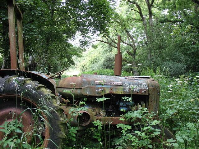 A broken down tractor