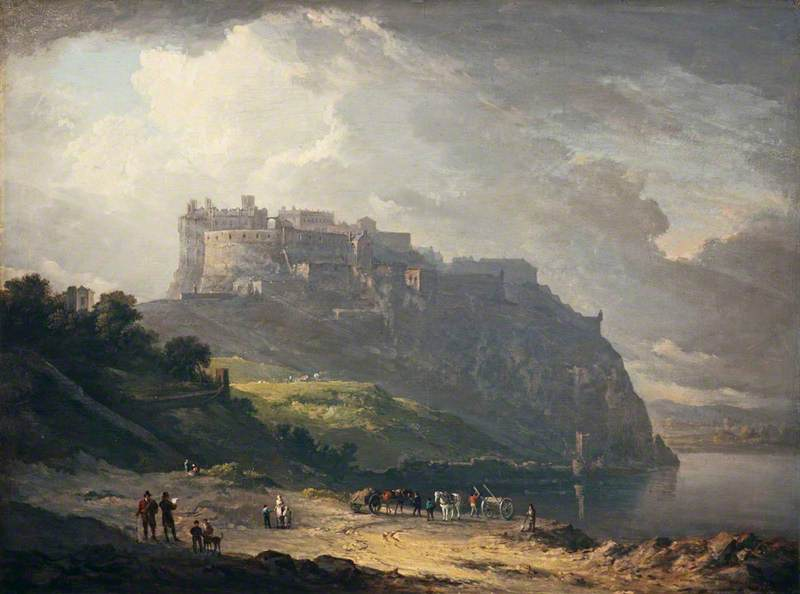 Александр Нэсмит (1758-1840) - Эдинбургский замок и Нор Лох - NG 2104 - Национальные галереи Шотландии.jpg