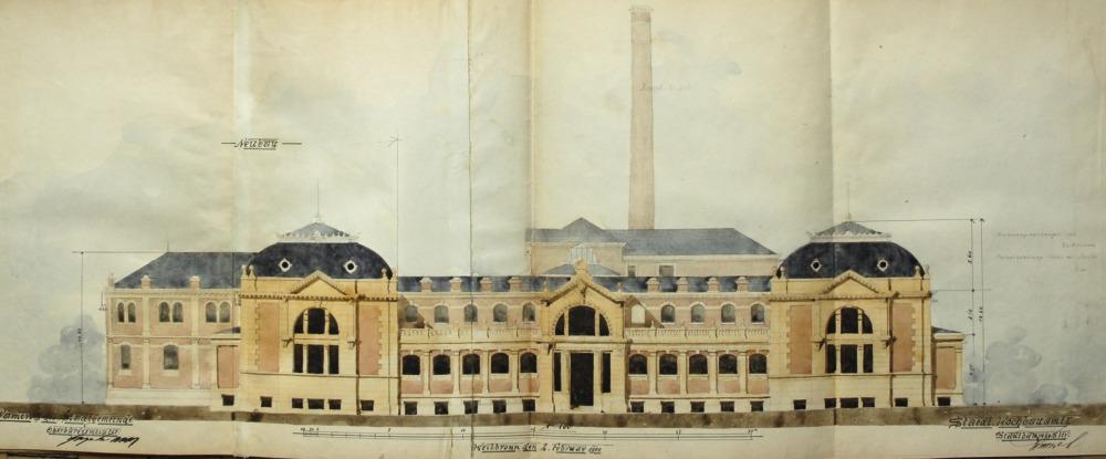 Architekt Heilbronn file altes stadtbad am wollhausplatz in heilbronn entwurf architekt