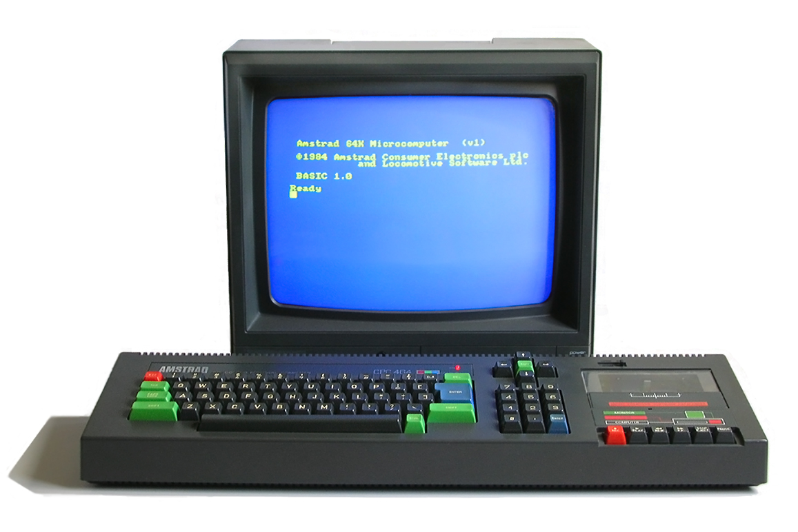 Amstrad CPC464 (source : Wikipedia Commons, auteur : Bill Bertram)
