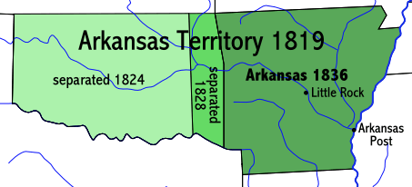 Evolution from the Territory of Arkansaw to State of Arkansas, 1819-1836 Arkansasterritory.PNG