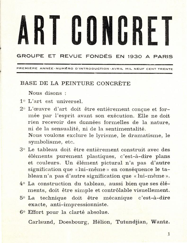 Futurism Art Manifesto Art Concret Manifesto