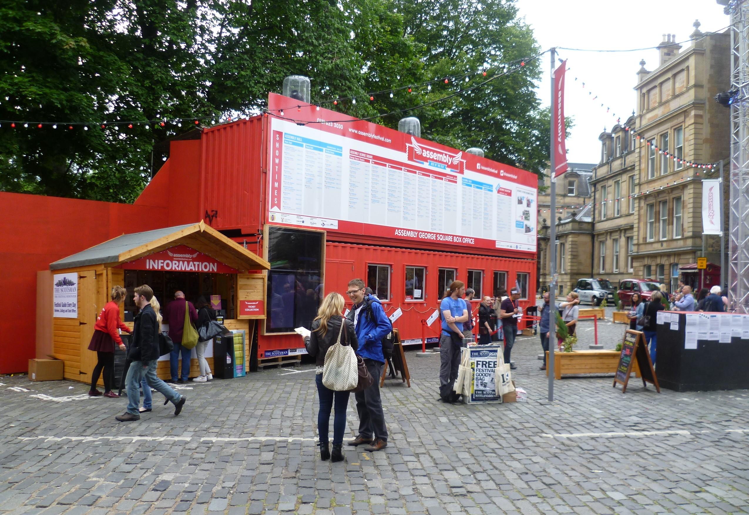edinburgh fringe festival box office. File:Assembly, George Square Box Office, 2013.JPG Edinburgh Fringe Festival Office G