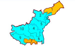 Assembly constituencies in Gurdaspur lokshaba constituency.png