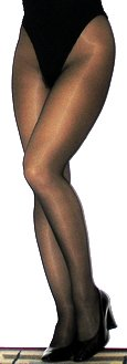 Woman wearing pantyhose.