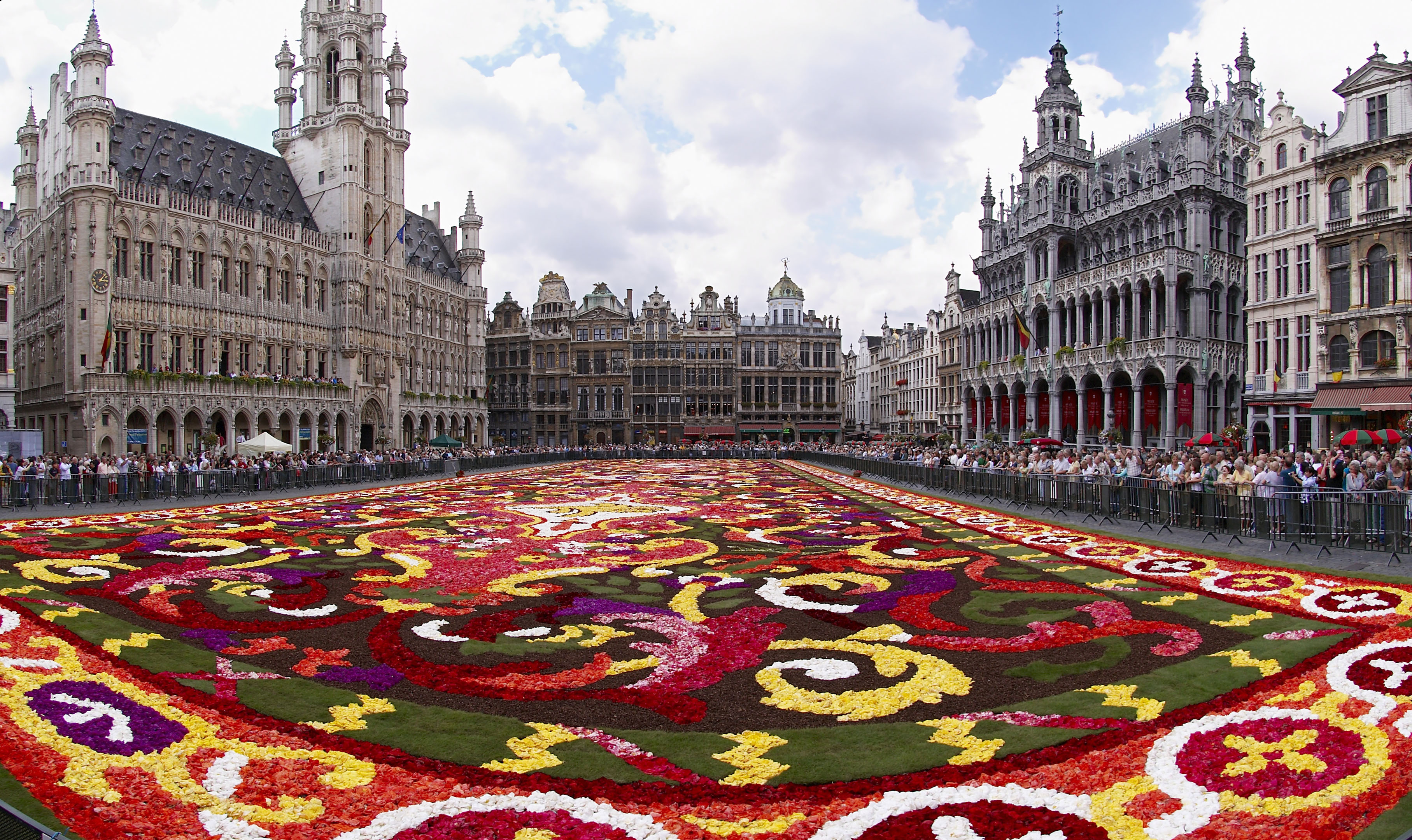 Floral carpet on the Grand Place in B...