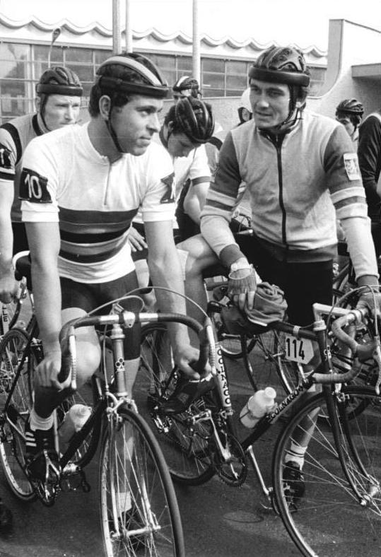 Thomas Barth (right) in 1984