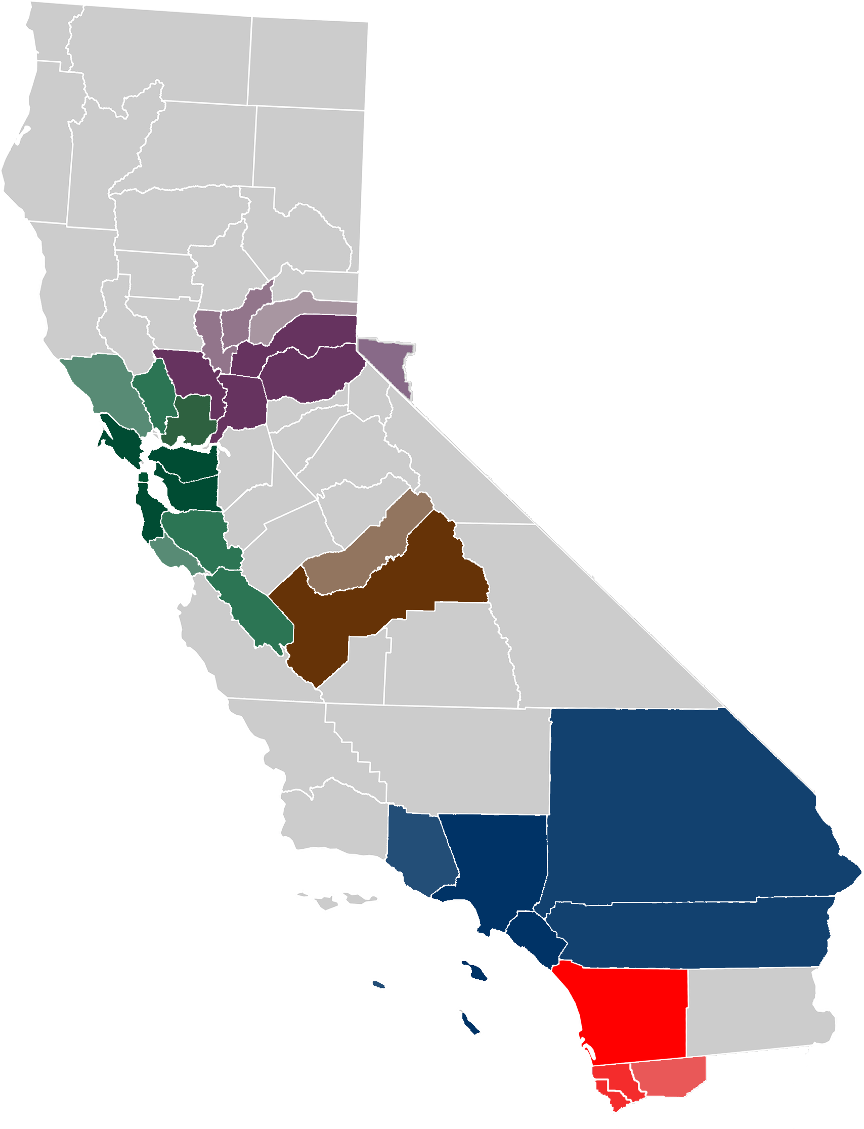 Image Result For California Map Regions
