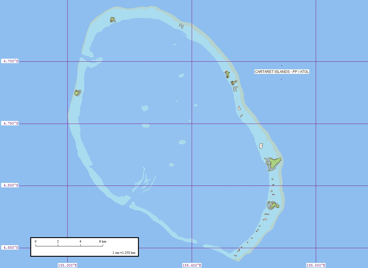 Carteret Islands Map
