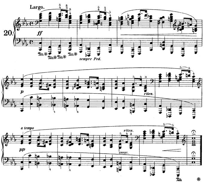 Prelude, Op. 28, No. 20 (Chopin)